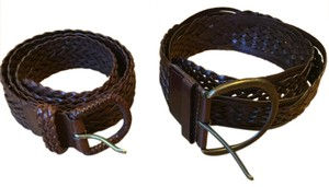 Ann Taylor LOFT Braided Leather Belts