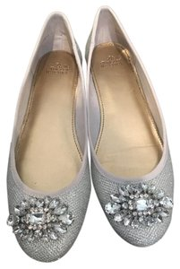 Badgley Mischka Full Length Wedding Silver Flats