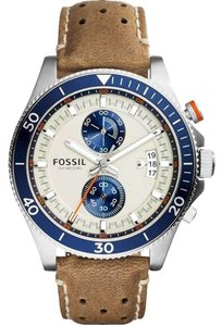 Fossil Fossil CH2951 Gent's Chrono Cream Dial Tan Leather Strap Watch