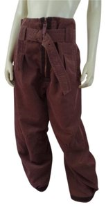 Marithé et François Girbaud Corduroy High Rise High Waist Large Baggy Pants Light Brown