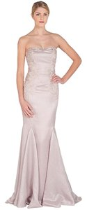 Badgley Mischka Evening Gown Formal Wedding Strapless Dress