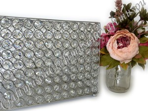Crystal Wedding Card Box / Money Bank Gold/silver Handmade Rectangle Sparkle Money Bank High Quality Acrylic Beads For