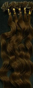 U-tipped Fusion Body Wave Hair Extensions 100s 50g Chestnut Brown U Tips