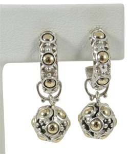John Hardy John Hardy Sterling Silver 18K Gold Jaisalmer Earrings on Mini Hoops