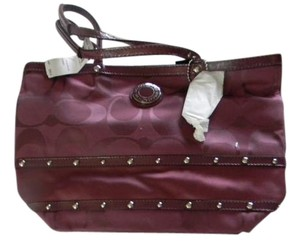 Coach New With Tag Tote in Wine