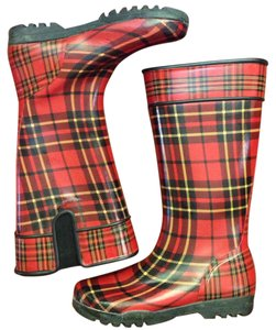 Sperry Red plaid Boots