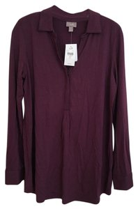 J. Jill Button Down Shirt Mulberry