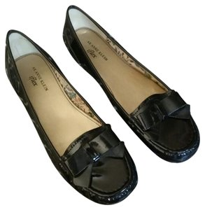 Anne Klein Patent Leather Loafers Black Flats