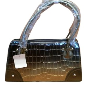 Other Faux Alligator Ombre Tote in Olive and Gold
