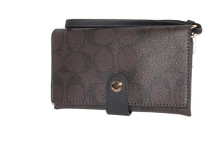 Coach Wallet Wristlet Brown / Black Clutch