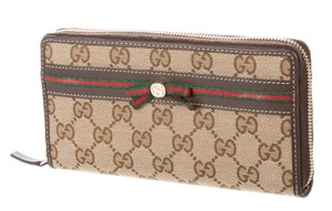Gucci Brown, tan Guccissima GG canvas Gucci Princy wallet