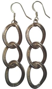 handmade NEW Handmade Recycled Vintage Large Link Gold Chain Link EARRINGS