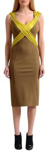 Versace Collection short dress Khaki Green on Tradesy