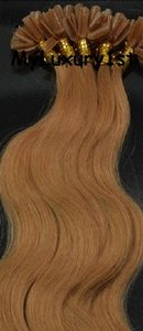Strawberry Blonde U Tip Human Hair Extensions Body Wave 100 Strand 50g