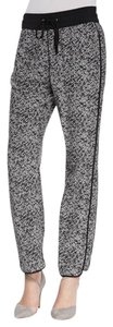 Marc by Marc Jacobs Silk Track Pant Trouser Pants black and gray
