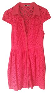 Maurices short dress Bright Pink Lace on Tradesy