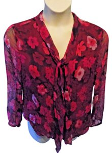 Worthington Classic Floral Top Pink