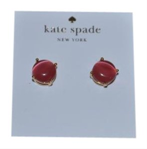Kate Spade NWT KATE SPADE GUMDROP STUDS EARRINGS PINK GOLD W DUST BAG A CLASSIC