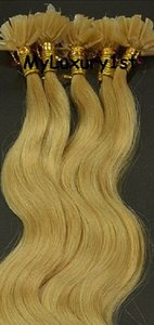 Golden Blonde 50g U Tip Hair Extensions Body Wavy Fusion Tips