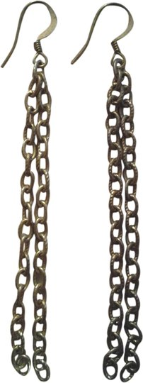 Other NEW Handmade Double CHAIN EARRINGS Gold Dangles NWOT
