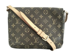 39642ab5aad Louis Vuitton Musette Tango Flap Closure Shoulder Bag. Louis Vuitton  Musette Tango Brown Monogram Canvas ...