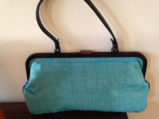 Jamin Peuch Navy Leather French Designer Leather Navy Vintage French Blues Clutch