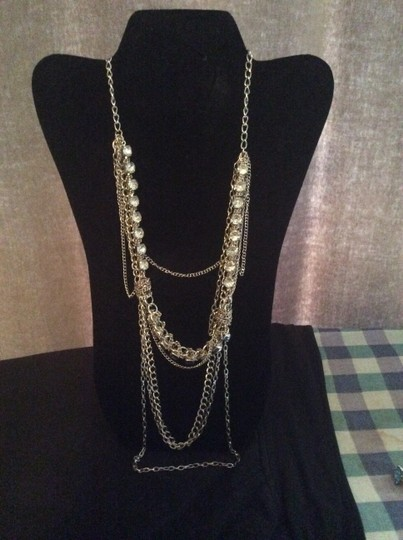 Other Layered silver chain necklace