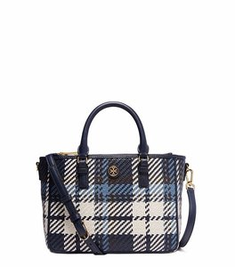 Tory Burch Tote in Tory Navy Plaid