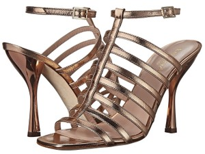 Kate Spade Leather Delila Heels Rose Gold Pumps