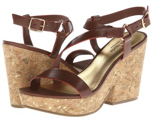 Kate Spade Viex Luggage Brown Platforms