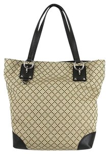 Gucci Diamante Canvas Tote Shoulder Bag