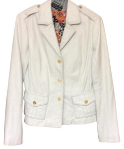 Tory Burch White leather Leather Jacket