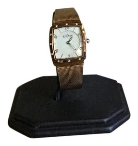 Skagen Denmark NWT Rose Stainless Steel With Mother Of Pearl Dial