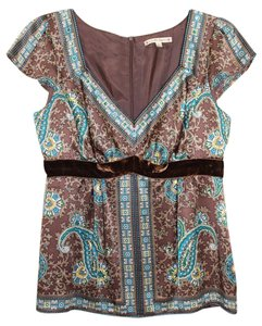 Nanette Lepore Silk Top Brown