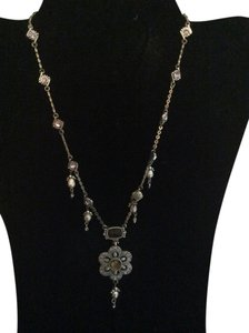 AK Anne Klein Purple and silver necklace