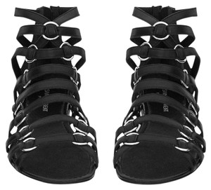 Saint Laurent Ysl Strappy Nina Black Sandals
