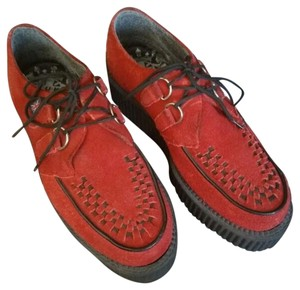 T.U.K Creepers Tuk Red Platforms