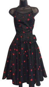 Other Vintage Dot Red Dot 1950's Dress