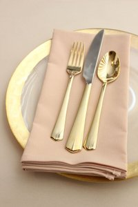 New Set Of 6 Blush Napkins For Wedding Table Setting