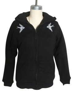 Sailor Jerry Swallow Sparrow Hoodie Tattoo Rockabilly Black Jacket
