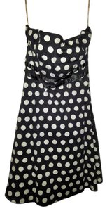 XOXO short dress Black & White Polka Dot Strapless 13 on Tradesy