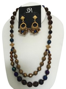 Saks Fifth Avenue Beaded Necklace and Earring Set