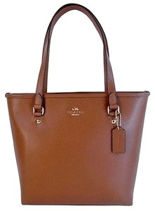 Coach Top Zip Shoulder Tote in Saddle Brown