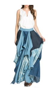 TOV Holy Maxi Skirt Blue