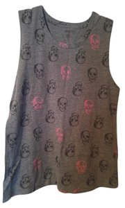 Xhilaration Xl Skull Top Gray, Black & Pink