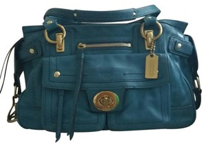 Coach Flagship Leather Lindsay Tote in Teal