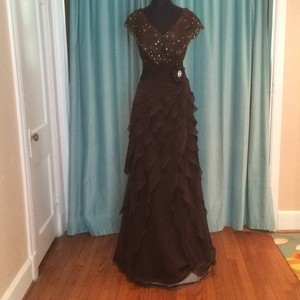 Jovani Chocolate Dress