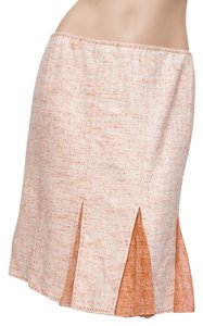 Elie Tahari Silk Blend A-line Peach Skirt Orange