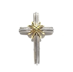 Tiffany & Co. Tiffany & Co 18K and Sterling Silver Cross Pendant
