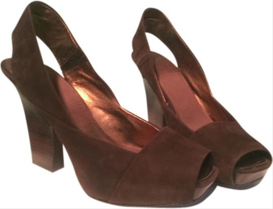 Nine West Brown suede Platforms